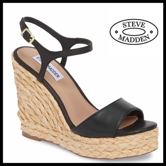 f2801d30df2 MADDEN LEATHER WEDGE SANDALS